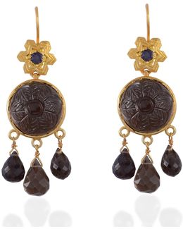 Samsara Smokey Topaz & Iolite Earrings