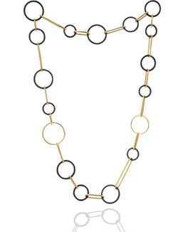 Koco Midnight Circles Long Necklace