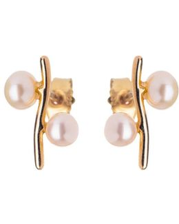 Pearl Earrings Anna Gold