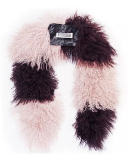 Cosima Stripe Collar Pink & Burgundy