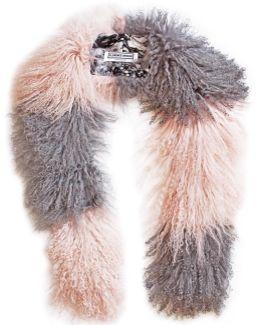 Cosima Stripe Scarf Pink & Grey
