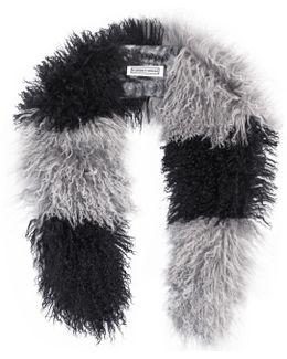 Cosima Stripe Scarf Black & Grey