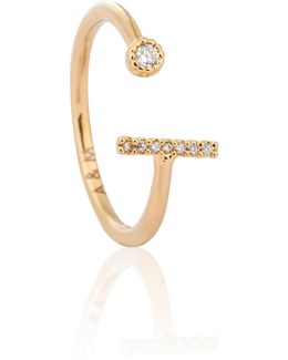 Gold Initial L Ring