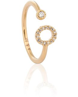 Gold Initial O Ring