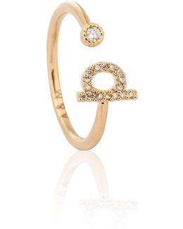 Gold Initial P Ring