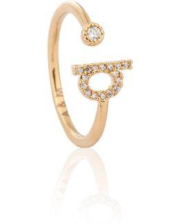 Gold Initial Q Ring