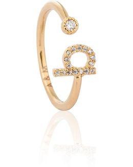 Gold Initial B Ring