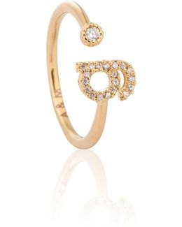 Gold Initial G Ring