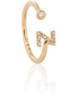 Gold Initial Z Ring
