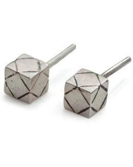 Cube Studs Silver