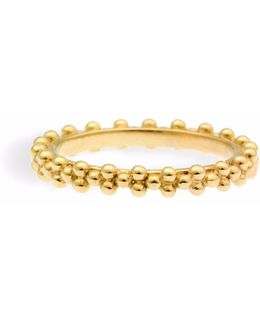 Gold Ring Three Pearls