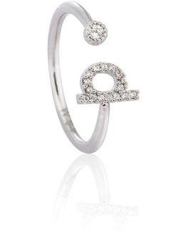 Silver Initial P Ring