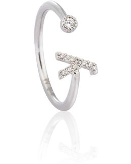 Silver Initial Y Ring