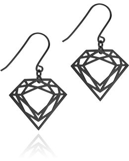 Black Classic Diamond Earrings