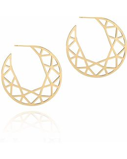 Gold Brilliant Diamond Hoop Earrings