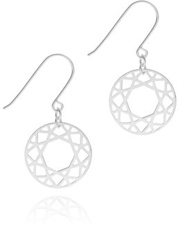 Silver Brilliant Diamond Drop Earrings