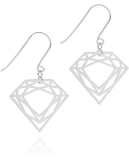 Silver Classic Diamond Earrings