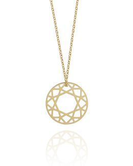 Small Gold Brilliant Diamond Necklace