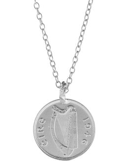 Worth Your Weight In Gold Farthing Coin Necklace Silver