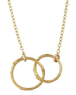 Just The Two Of Us Hawthorn Twig Circle Necklace In Gold