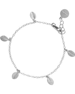 13 Leaves In The Forest Bracelet In Silver