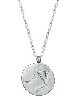 Libra We Are All Made Of Stars Star Sign Necklace In Silver