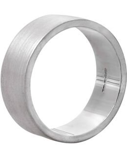 Flat Matt Men's Ring In Silver