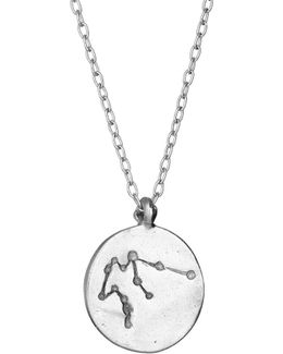 Aquarius We Are All Made Of Stars Necklace In Silver