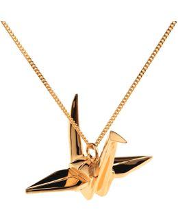 Crane Necklace Gold