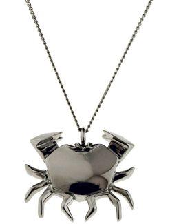 Crab Necklace Gun Metal