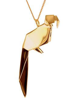 Parrot Necklace Sterling Silver Gold Plated