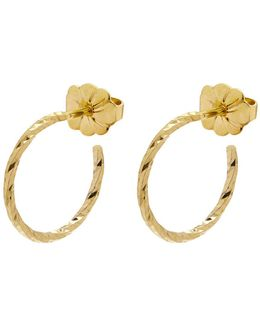 Gold Mini Diamond Hoop Earrings