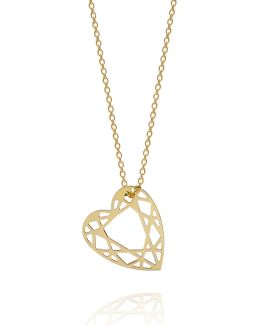 Gold Small Heart Diamond Necklace