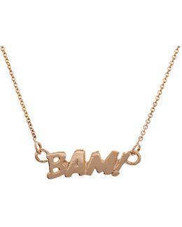 Bam Necklace In Gold
