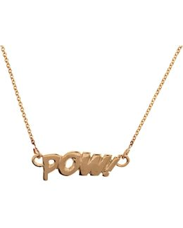 Pow Necklace In Gold