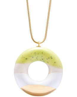 Milky Doughnut With Lime Coconut & Gold Glaze