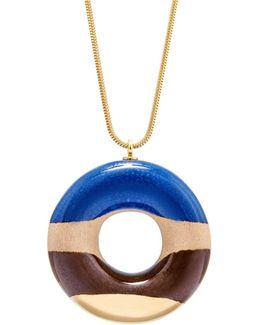 Vanilla Doughnut With Blueberry Coffee & Gold Glaze
