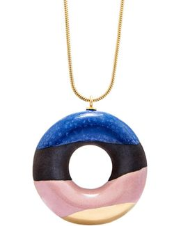 Cocoa Doughnut With Blueberry, Wild Strawberry & Gold Glaze