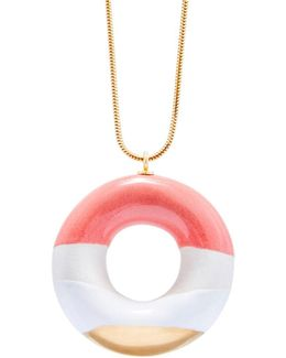 Milky Doughnut With Wild Strawberry Coconut & Gold Glaze