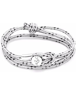 Grey Dash Union Silver & Rope Bracelet