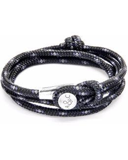 Black Dundee Silver & Rope Bracelet