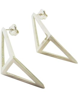 Silver Inverted Half Kite Earrings
