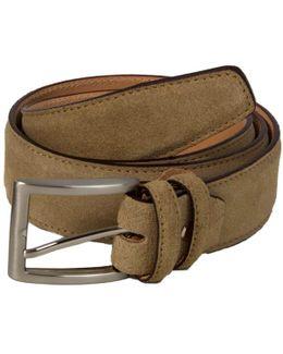 Beige Trento Leather Belt