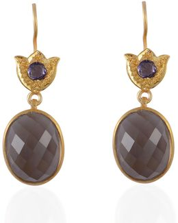 Negrita Smokey Topaz & Iolite Earrings