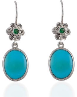 Byzantine Star Turquoise & Diamond Earrings