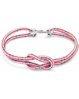 Red Dash Foyle Silver & Rope Bracelet