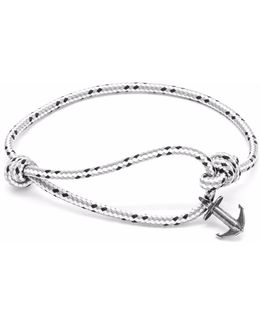 Grey Dash Severn Silver & Rope Bracelet