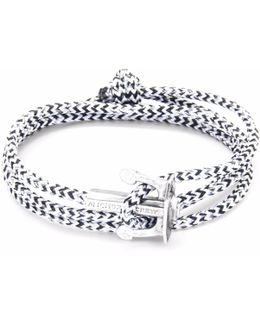 White Noir Union Silver & Rope Bracelet