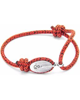 Red Noir London Silver & Rope Bracelet