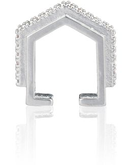 Fitzgerald Block Ear Cuff In Silver